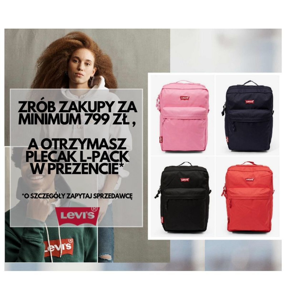 BACKPACK PROMO w LEVI'S